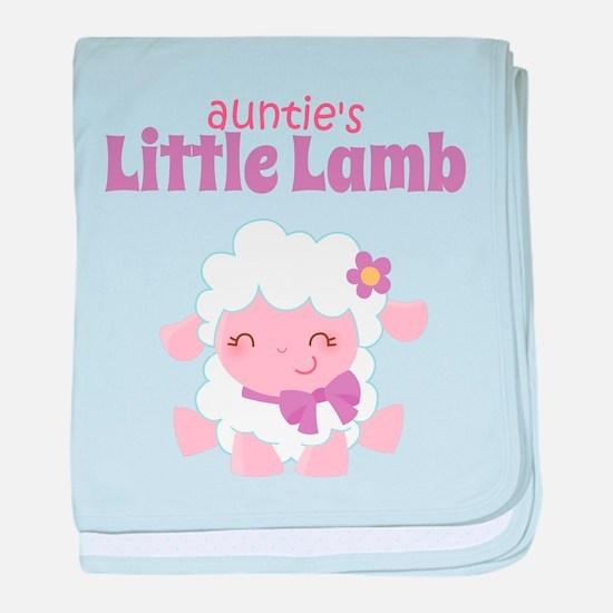 Auntie's Little Lamb baby blanket