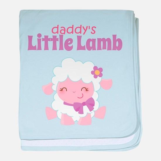 Daddy's Little Lamb baby blanket