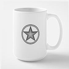 Americana Star Circle Emblem Design Mugs