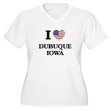 I love Dubuque Iowa Plus Size T-Shirt