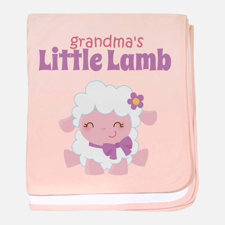Grandma's Little Lamb baby blanket