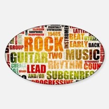Grunge Rock and Roll Music Poster A Decal