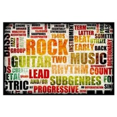 Grunge Rock and Roll Music Poster Art as Backgroun Poster