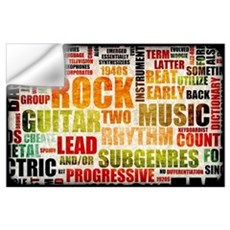 Grunge Rock and Roll Music Poster Art as Backgroun Wall Decal