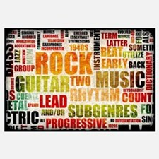 Grunge Rock and Roll Music Poster Art as Backgroun