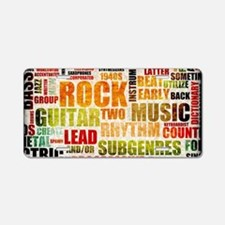 Grunge Rock and Roll Music  Aluminum License Plate