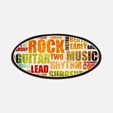 Rock and Roll Music Poster Art as Background Patch