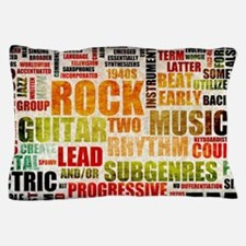 Rock and Roll Music Poster Art as Background Pillo