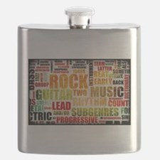 Rock and Roll Music Poster Art as Background Flask