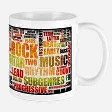 Rock and Roll Music Poster Art as Background Mugs