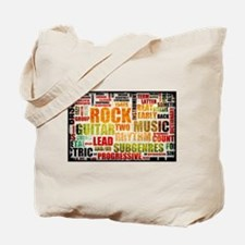 Rock and Roll Music Poster Art as Background Tote