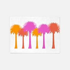 Tropical Palm 5'x7'area Rug