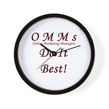 OMM's do it best Wall Clock