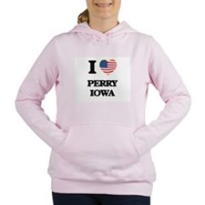 I love Perry Iowa Women's Hooded Sweatshirt