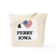 I love Perry Iowa Tote Bag