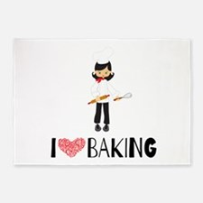 I love Baking 5'x7'Area Rug