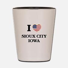 I love Sioux City Iowa Shot Glass