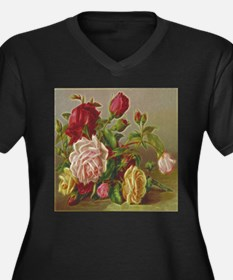 Vintage Flowers Plus Size T-Shirt