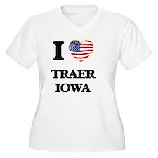 I love Traer Iowa Plus Size T-Shirt
