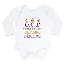 Obsessive Cupcake Diso Long Sleeve Infant Bodysuit