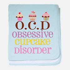 Obsessive Cupcake Disorder baby blanket