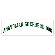Anatolian Shepherd Dog (green Bumper Bumper Sticker