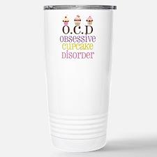 Obsessive Cupcake Disor Stainless Steel Travel Mug