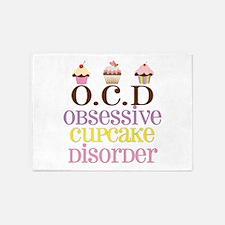 Obsessive Cupcake Disorder 5'x7'Area Rug
