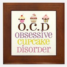 Obsessive Cupcake Disorder Framed Tile