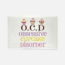 Obsessive Cupcake Disor Rectangle Magnet (10 pack)