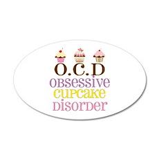 Obsessive Cupcake Disorder Wall Decal