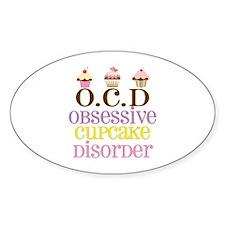 Obsessive Cupcake Disorder Decal