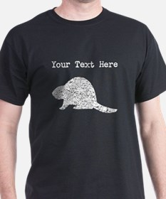 Distressed Beaver Silhouette (Custom) T-Shirt