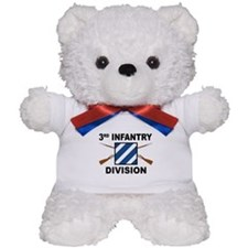 3rd Infantry Division - Crossed Rifles Teddy Bear