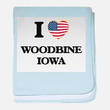 I love Woodbine Iowa baby blanket