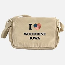 I love Woodbine Iowa Messenger Bag
