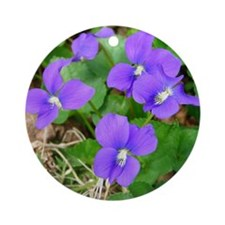 Are Violets Blue? Round Ornament