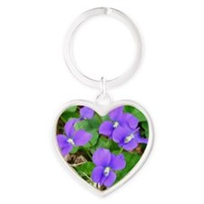 Are Violets Blue? Heart Keychain