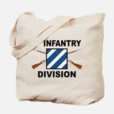 3rd Infantry Division - Crossed Rifles Tote Bag