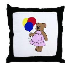 Balloon Bear Throw Pillow