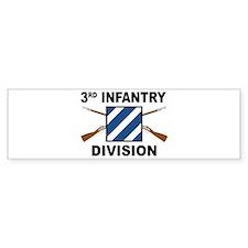 3rd Infantry Division - Crossed Bumper Bumper Sticker