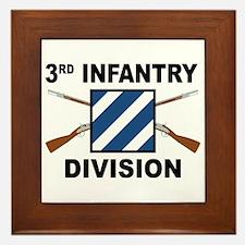 3rd Infantry Division - Crossed Rifles Framed Tile