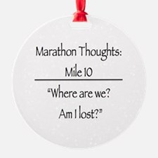 Marathon Thoughts: Mile 10 Ornament