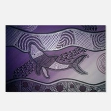 Aboriginal Purple Whale Postcards (Package of 8)
