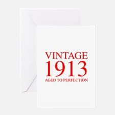 VINTAGE 1913 aged to perfection-red 300 Greeting C