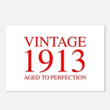 VINTAGE 1913 aged to perfection-red 300 Postcards