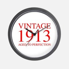 VINTAGE 1913 aged to perfection-red 300 Wall Clock