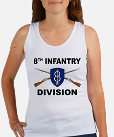 8th Infantry Division - Crossed Rifles Tank Top