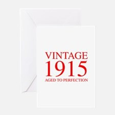 VINTAGE 1915 aged to perfection-red 300 Greeting C