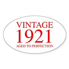 VINTAGE 1921 aged to perfection-red 300 Decal